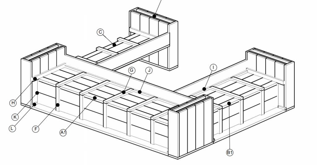 gratis Loungebank bouwtekening