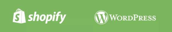 SHopify en wordpress logo
