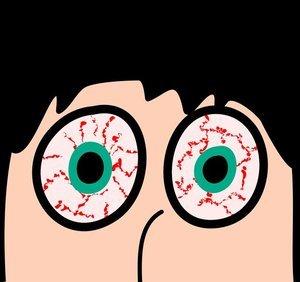 bloeddoorlopen ogen