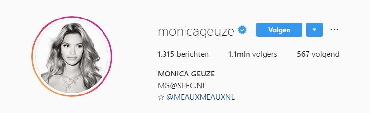 monica geuze instagram grote following