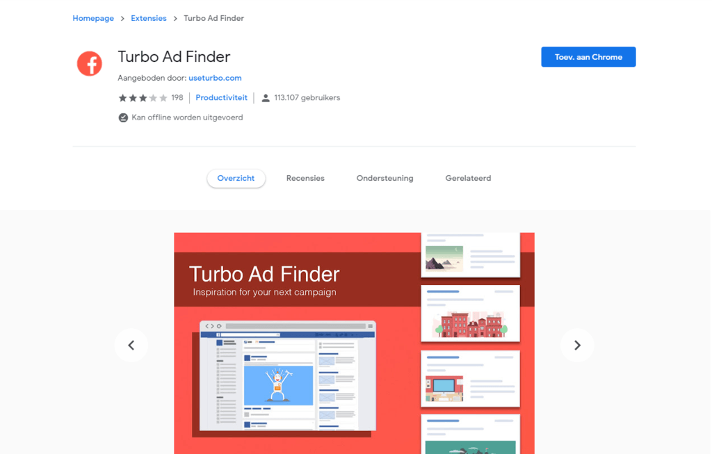 Turbo ad finder