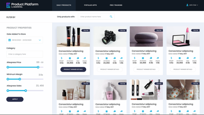 ecomtrics-product-platform