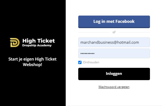 inloggen-high-ticket-dropship-academy-htdsa