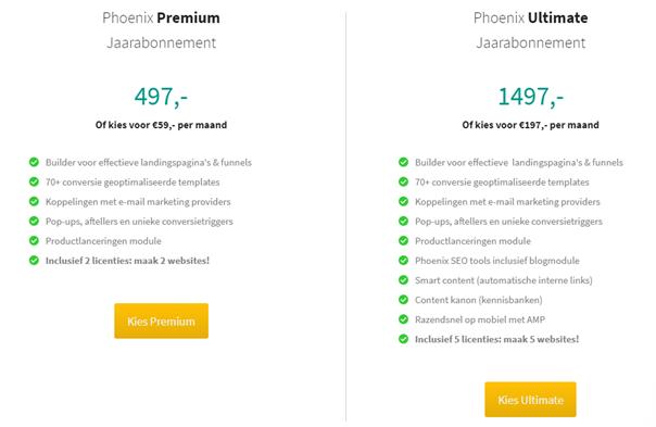 phoenix-imu-prijzen-kosten
