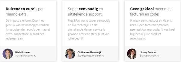 plug&pay-ervaringen